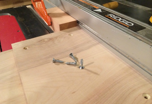 Assembling plywood parts for bevel-miter jig