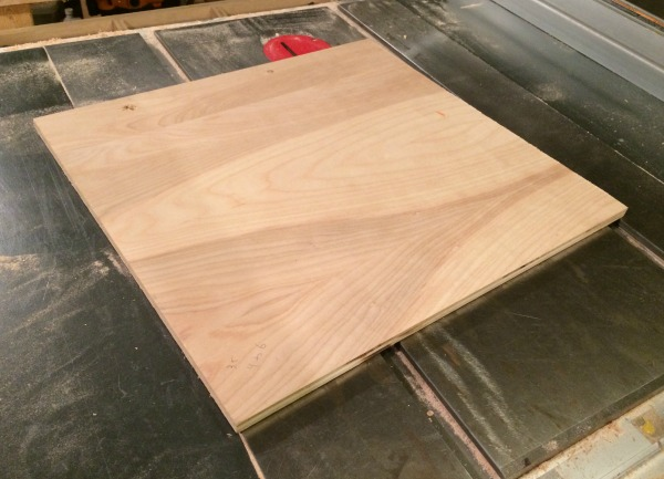 Plywood for bevel and miter jig