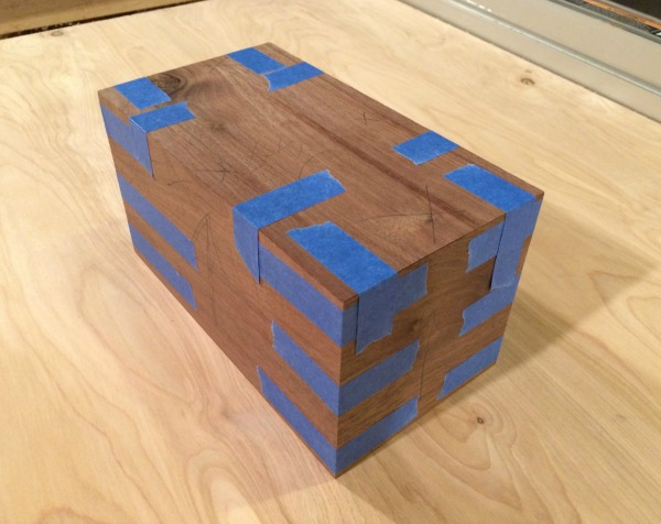 Taped up walnut box