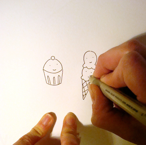 Wash your hands before using pen and ink!