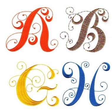 Elegant curly monogram by Designs by JuJu