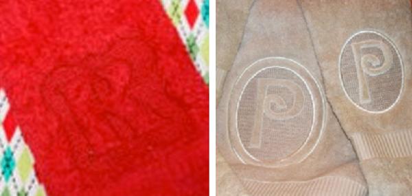 Single-letter monogramed towels