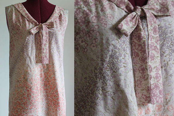 Pretty blouse made with secondhand vintage fabric
