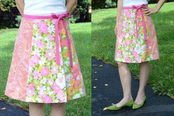 making an eco-chic upcycled wrap skirt