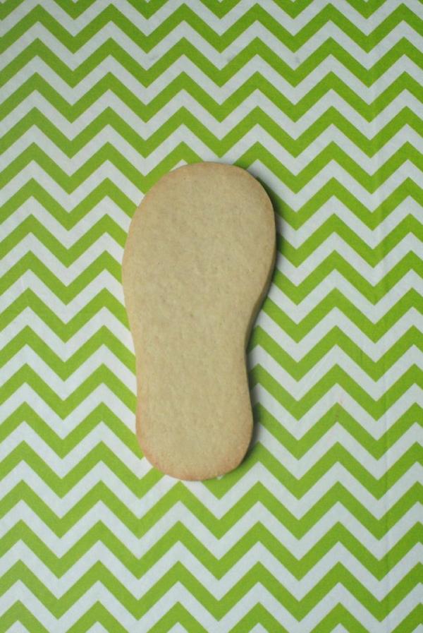 Baked Flip-Flop Shaped Sugar Cookie