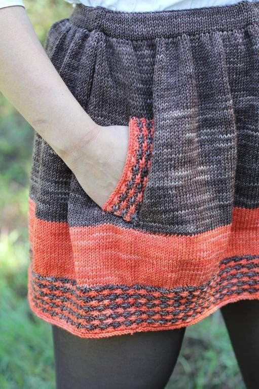 Knitted new girl skirt