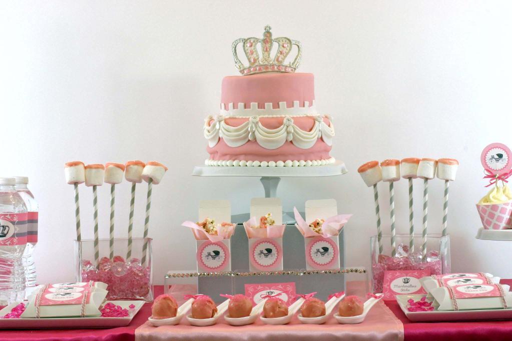 Princess themed tiered cake