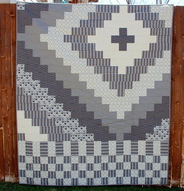 Neutral patchwork quilt