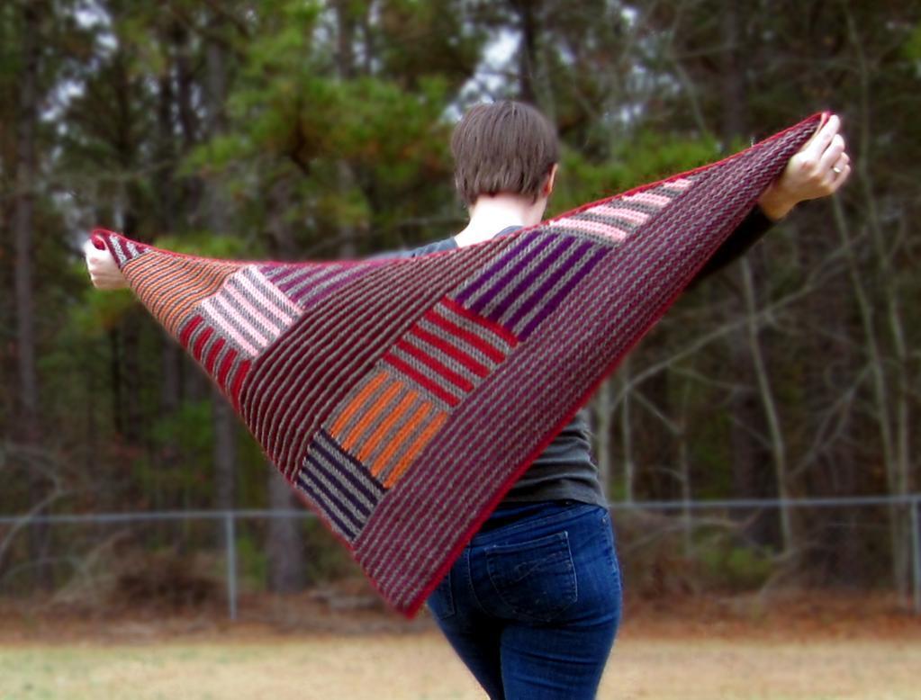 Log Cabin Shawl Pattern on craftsy!