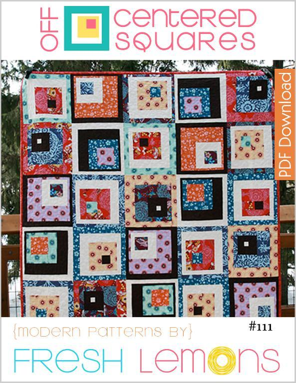 Off-centered squares quilt pattern on Bluprint.com