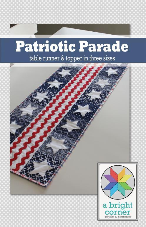 Patriotic parade table runner and topper pattern