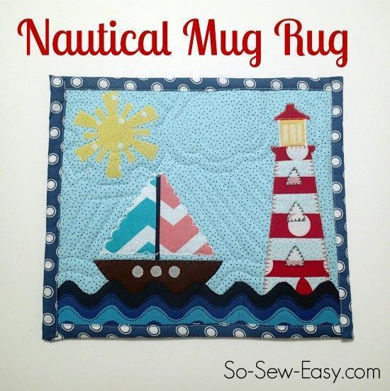 Free Nautical Mug Rug Pattern
