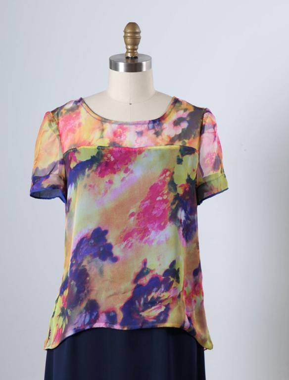 Lined Sheer T-Shirt on Bluprint