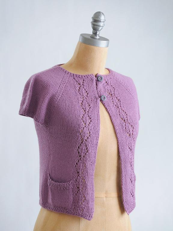 Pretty little short-sleeved knit cardi