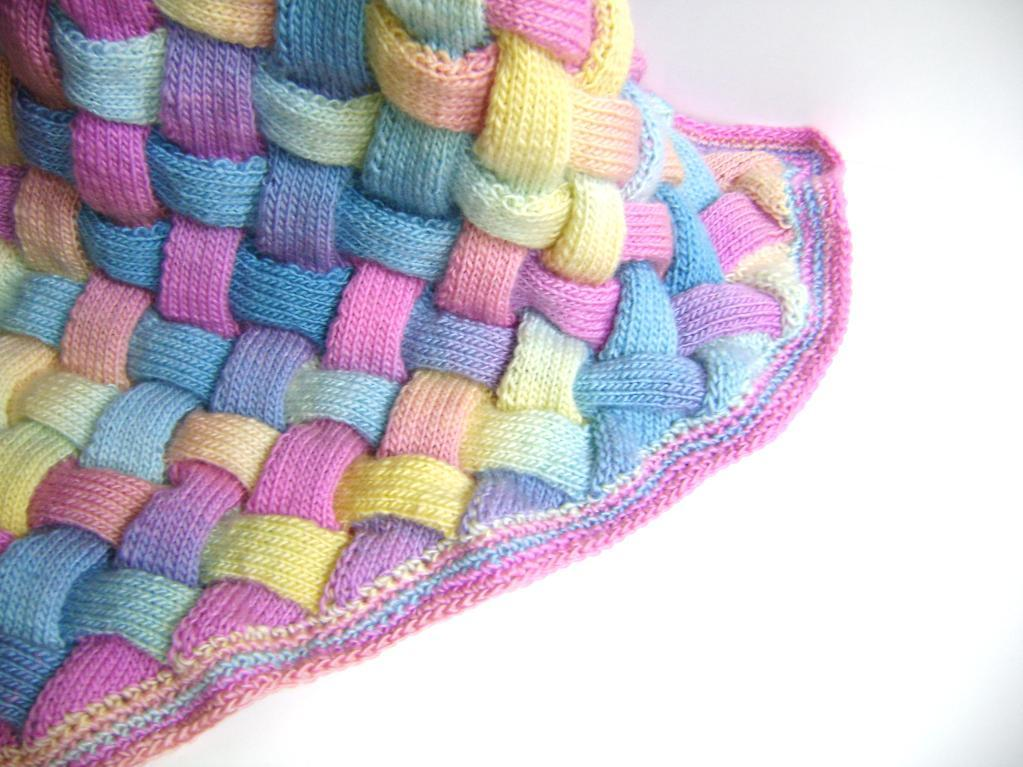 rainbow pastel handcrafted baby blanket