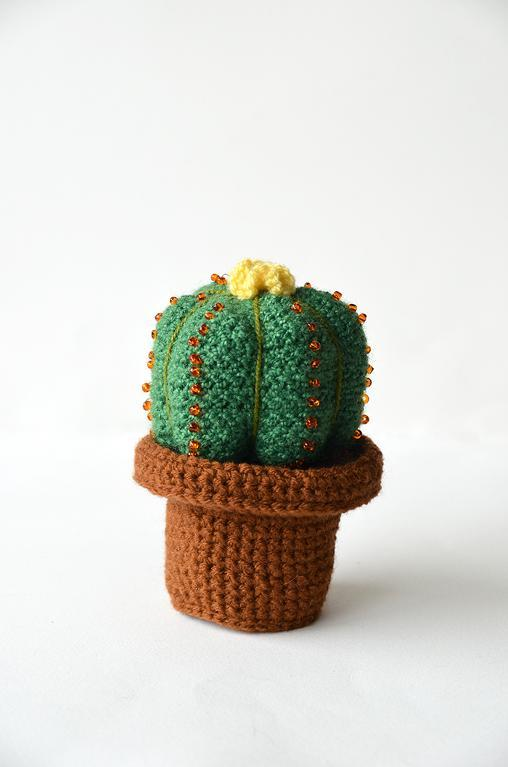 Crochet ball cactus
