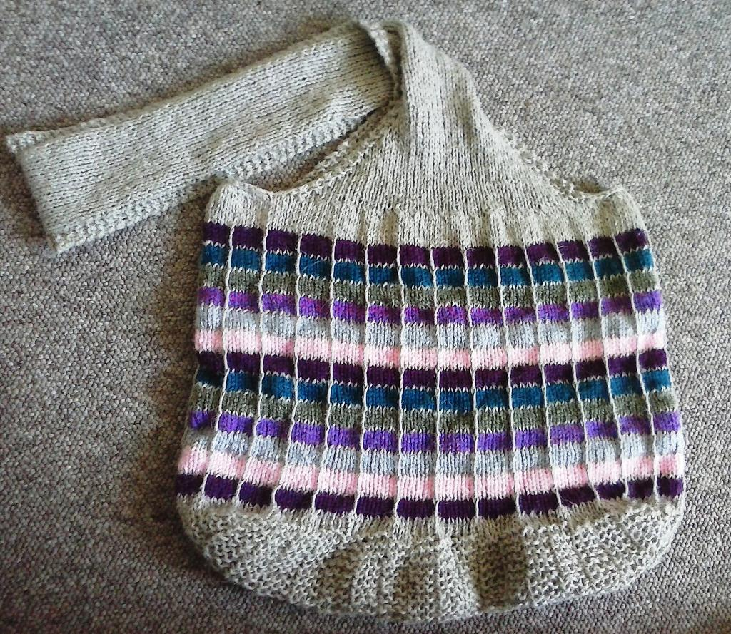 Sweet Candy knitted bag