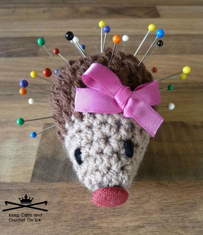 Crochet hedgehog pincushion