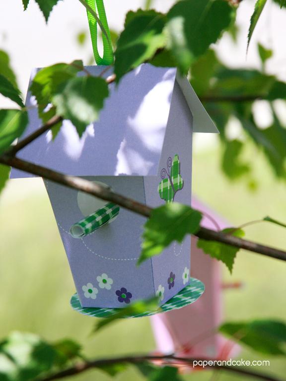 Free Paper Birdhouse Printable