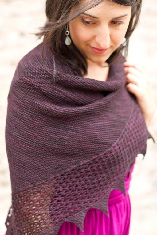 Bramble knitted shawl