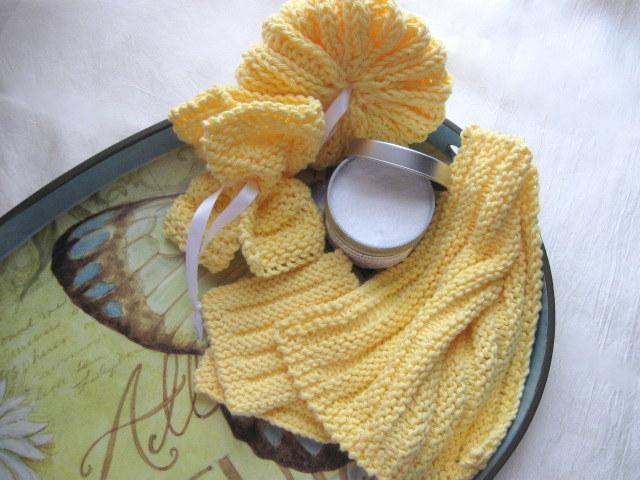 Knit ribbly spa set