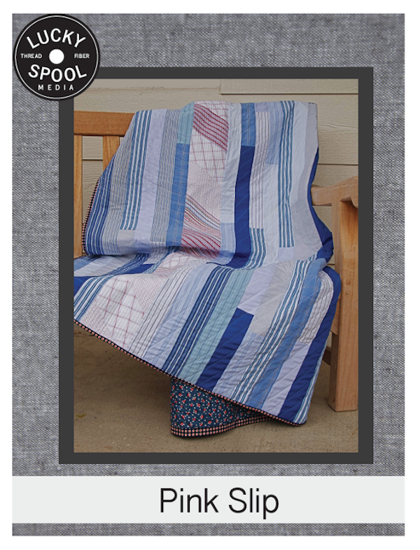 Simple masculine quilt pattern on Craftsy