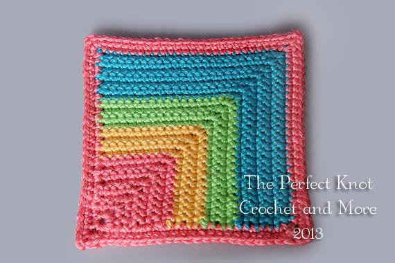 Melissa's mitered crochet square