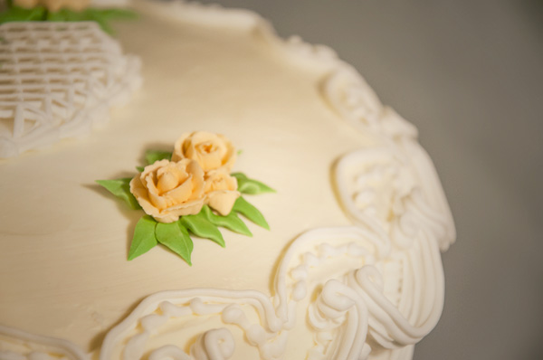 Royal icing flowers and leaves