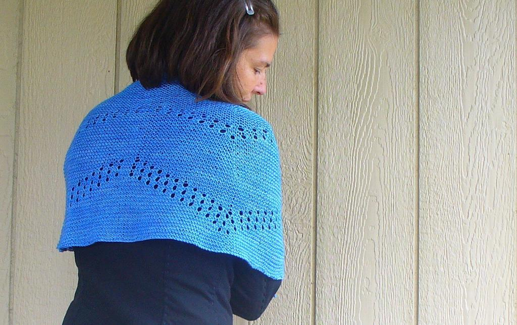 Knitted Cassandra shawl