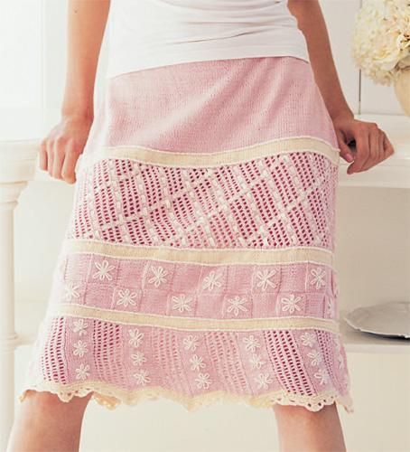 Knitted A-line skirt