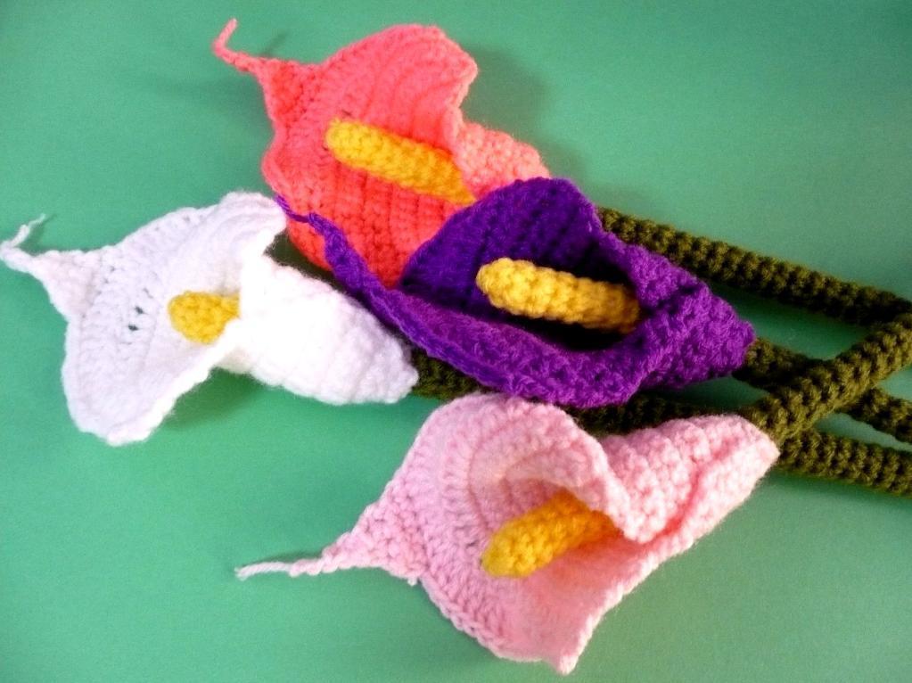 Crochet calla lily