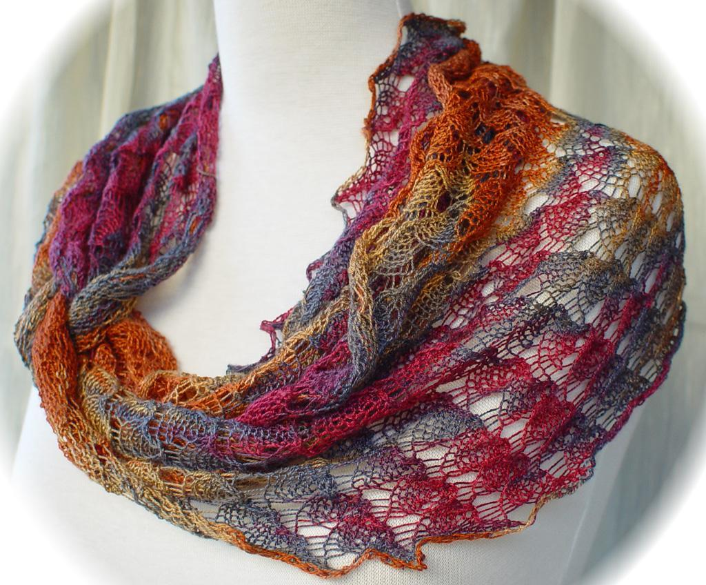 Rainbow Colored Ring of Lace Wrap