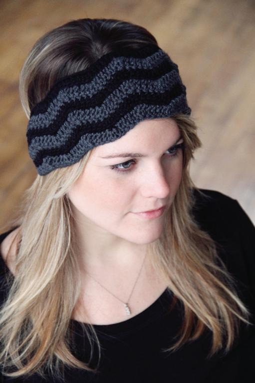 Chevron stitch crochet headband