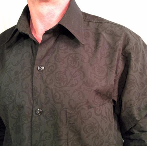 brown men's shirt