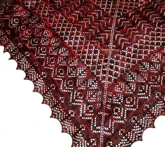 Knitted Elizabeth shawl