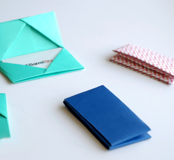 Paper Folded Gift Card Holders