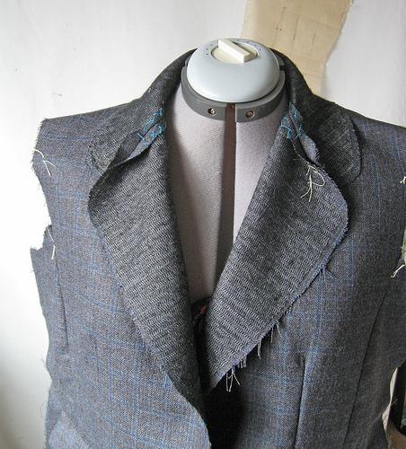 grey jacket lapel