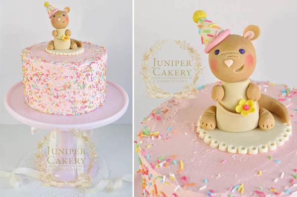 Birthday animal fondant cake topper