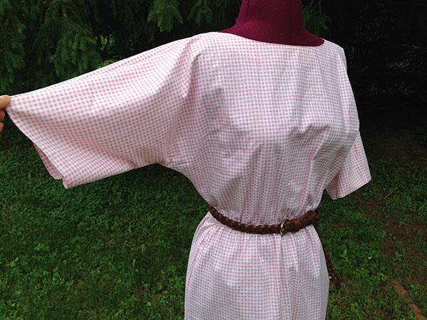 Adorable finished Kimono-sleeve shirt dress - Craftsy.com