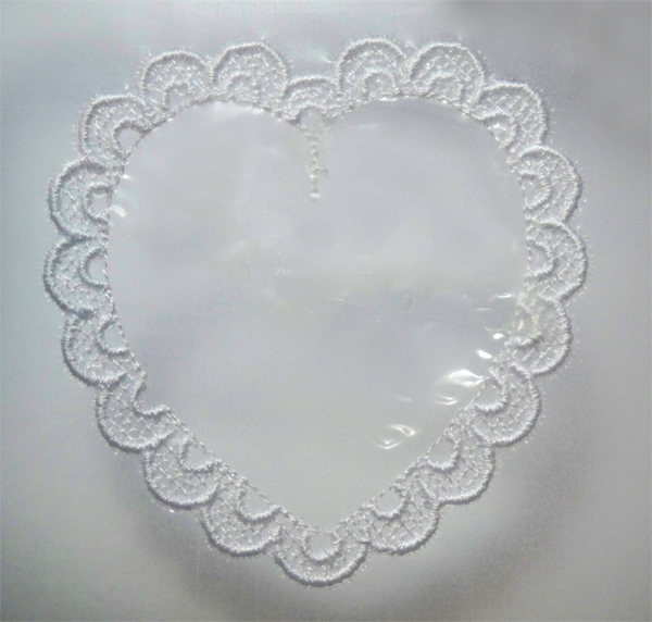 freestanding lace patriotic heart project