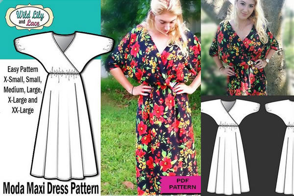 Moda Maxi Dress Pattern on Bluprint!