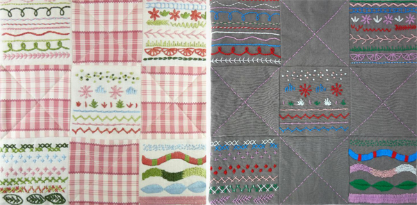 mini quilt class samples