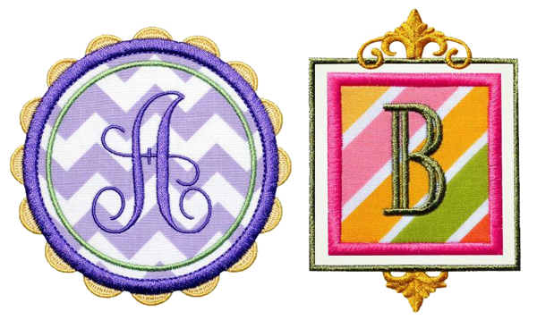 Monogram frames by Edie's Designs