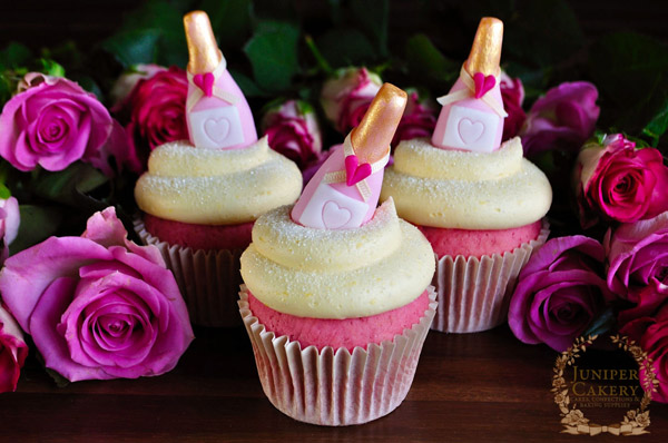 Lovely Pink Champaign cupcake toppers