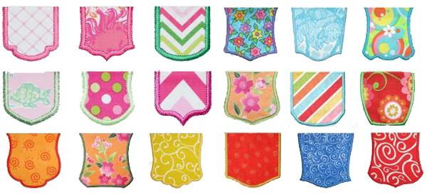 Pocket appliques by Edies Designs