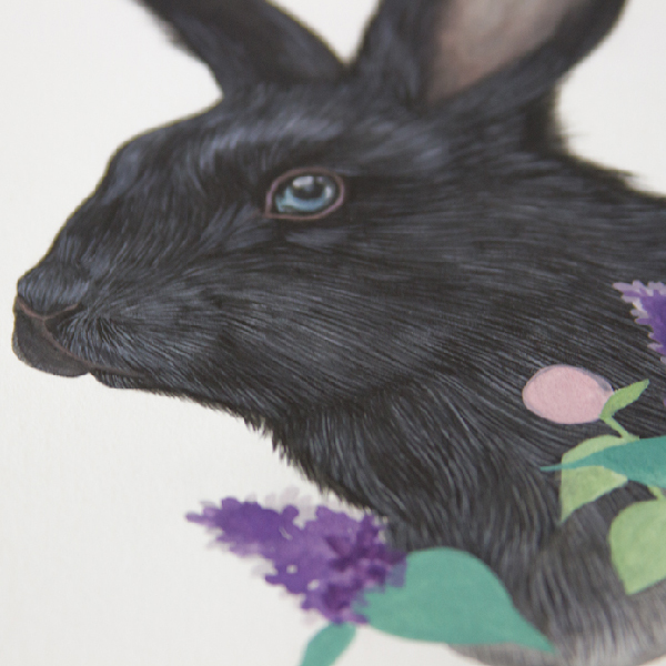 Detail of work in progress: The Black Rabbit of Inlé