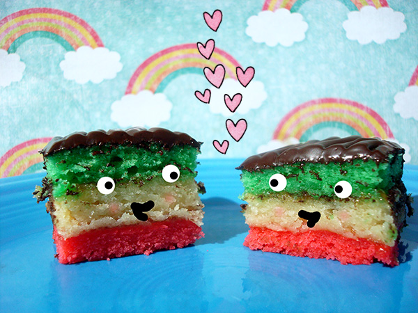 Rainbow cookies are a friendly food.