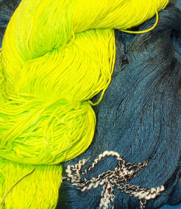 Two skeins of rayon yarn