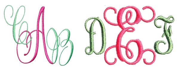 script monograms by Edie's Designs