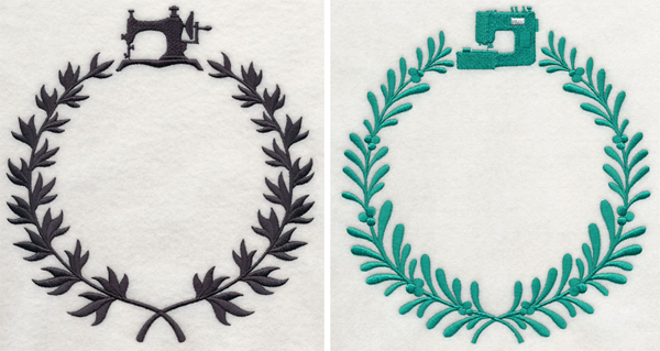 Embroidery Library sewing monogram frames